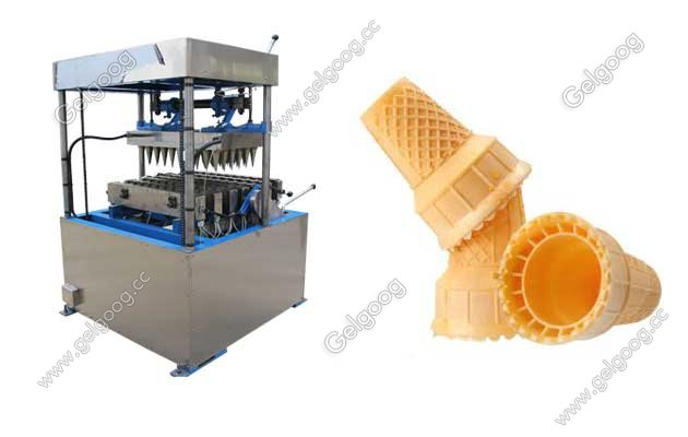 Wafer Ice Cream Cone Making Machine With 60 Moulds