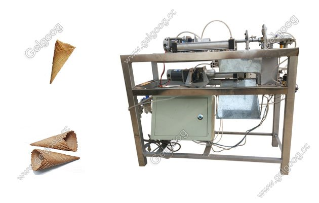 Waffle Ice Cream Sugar Cone Rolling Machine