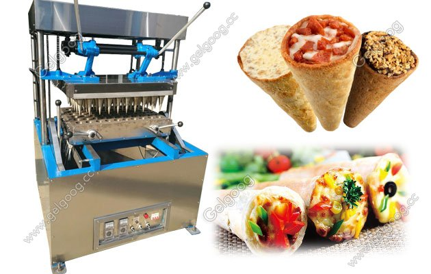 Commercial Pizza Cone Making Forming Machine With 60 Moudls