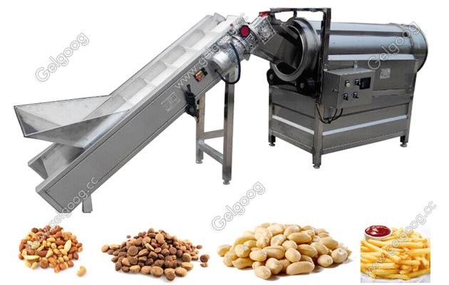 Single-drum Flavoring Machine For Snack Food Chips Popcorn Manufacturer