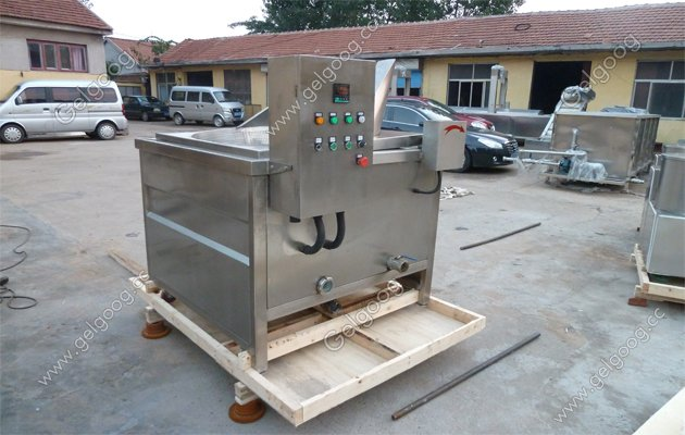 automatic discharging food frying machine china manufacturer
