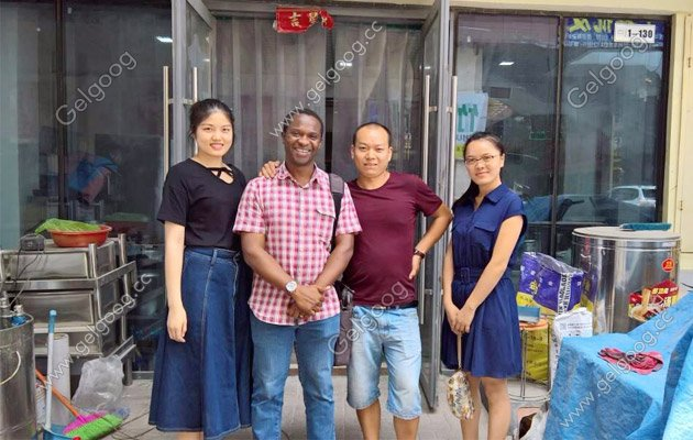Nigeria customer visit for fired instant noodle machine