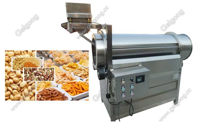 drum type snack food flavoring machine for sale