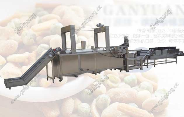 guangzhou gelgoog nut frying machine line with best price in china