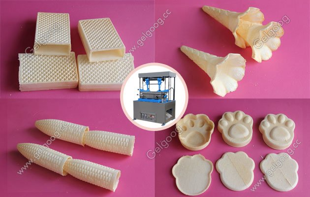 automatic wafer ice cream cone machine with best price in china