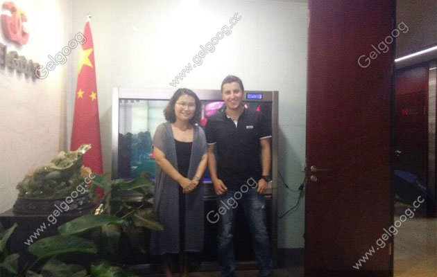 Columbia Customer Visit For Automatic Rolled Sugar Cone Machine China Manufacturer