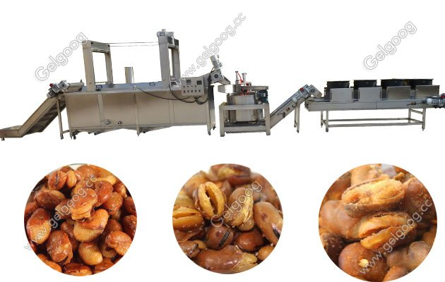 broad bean frying line processing process