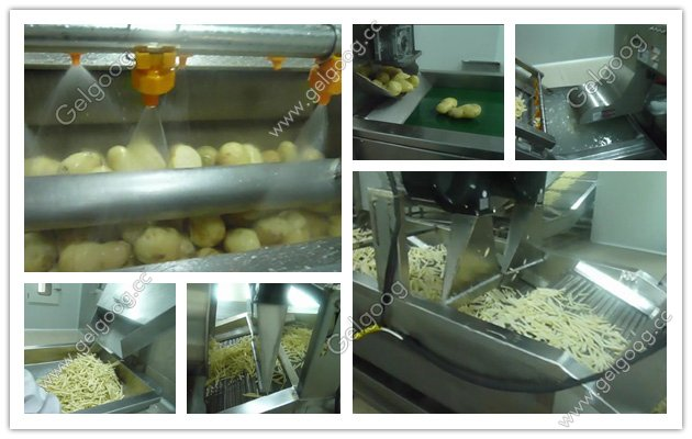 automatic french fries production line for sale
