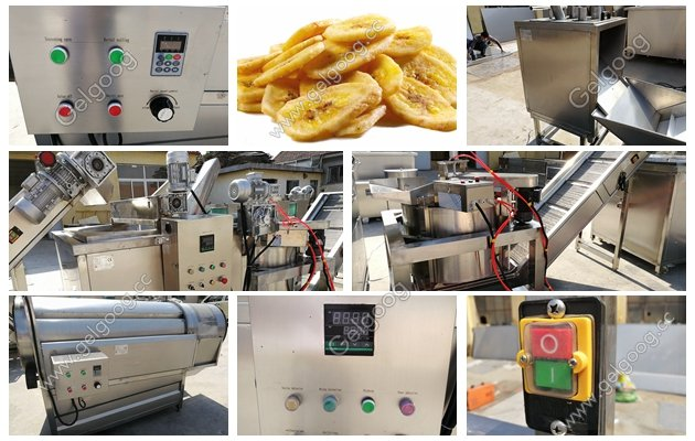 complete line of plantain chips production process