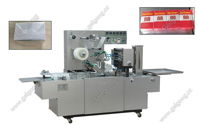 automatic cellophane wrapping machine for box,business cards