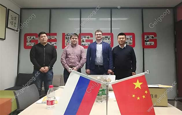 Russia Customer Visit For Ice Cream Cone Production Line