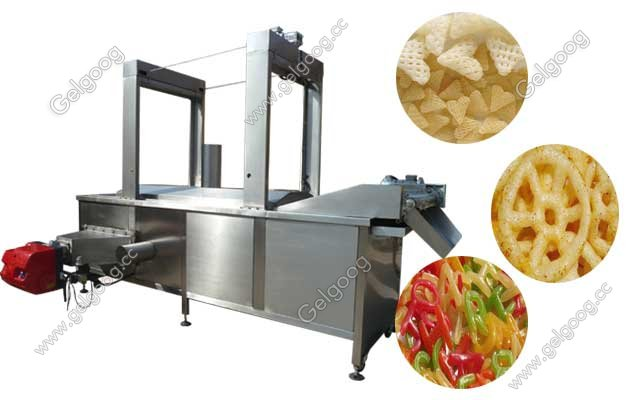 automatic pellet chips continuous frying machine