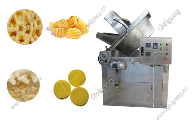 Automatic Pellt Chips Frying Machine|Pellet Fryer For Snack Food and Potato Chips