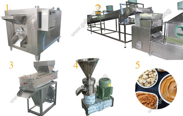 Peanut Butter Making Machine Line With 100Kg/h