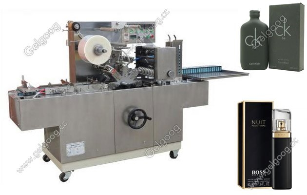 automatic perfume box over wrapping machine