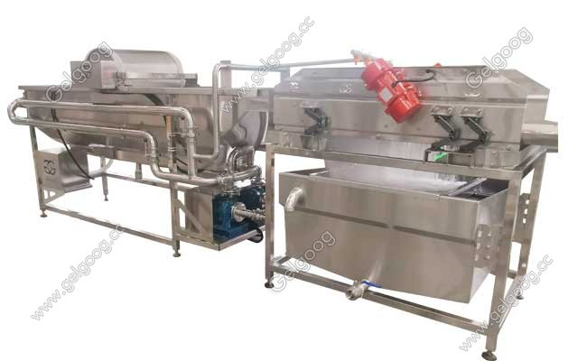 Leave Green Vegetables Process Line Salad Washing Machine