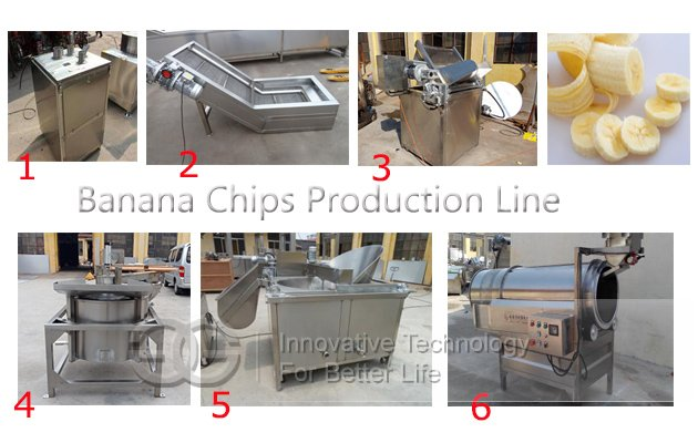 banana chips processing line