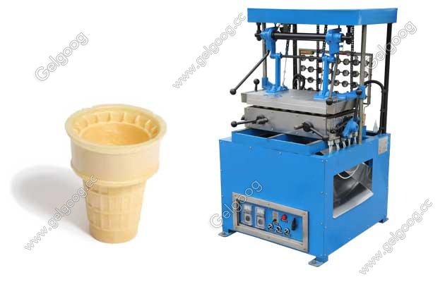 bowl shape wafer cone making machine