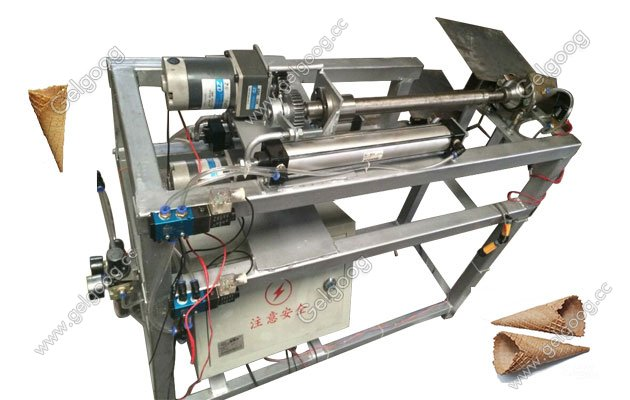 waffle ice cream cone rolling machine with low price in china