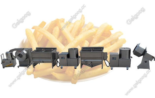 semi-automatic french fries machine