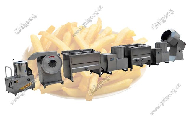french fries making line for sale
