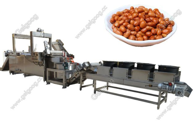 automatic peanut frying machine with low price in china