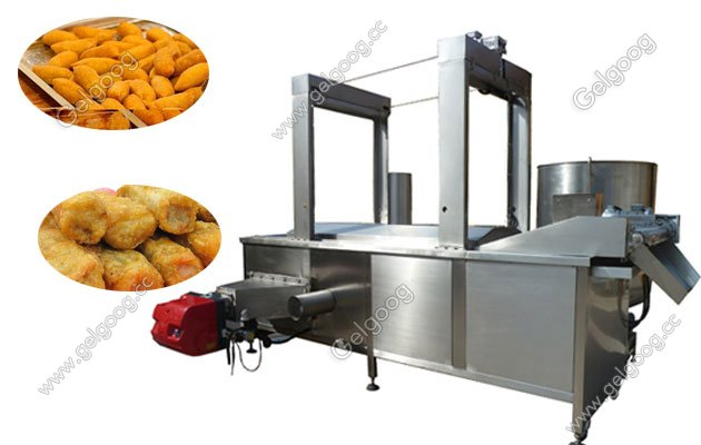 Continuous Food Deep Frying Machine Saving Energy