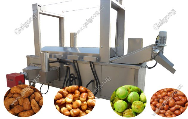 Continuous snack Food Deep Frying Machine Saving Energy