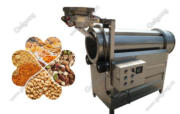 Continuous food flavoring machine