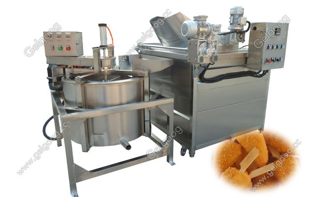 Electric Snack Food Fryer Machine Automatic Discharging