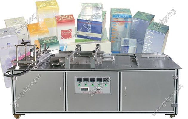 Manual Cellophane Box Wrapping Machine for soap