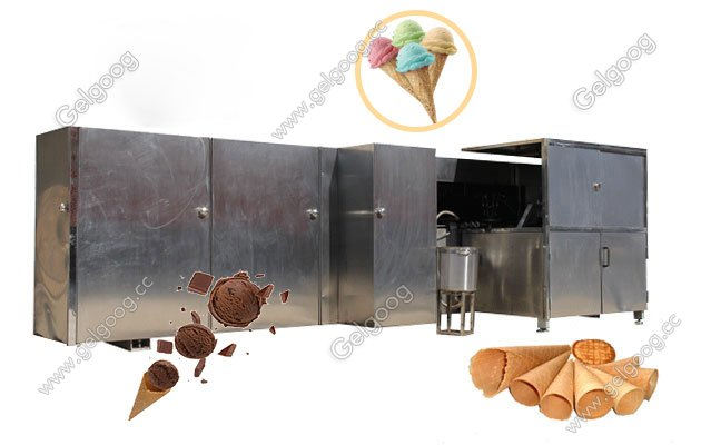 full automatic ice cream cone production line high quality