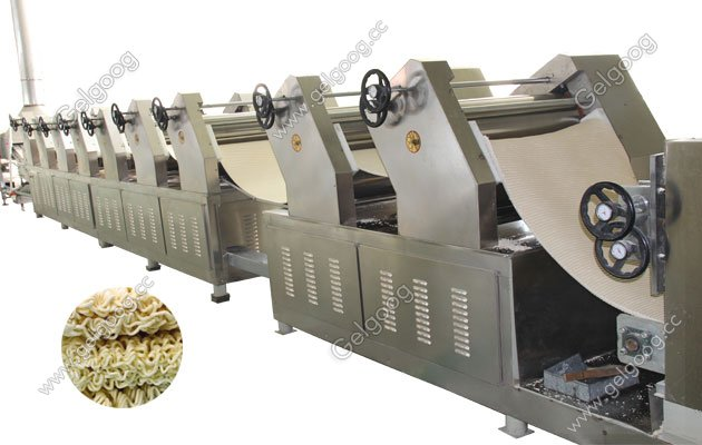 fired instant noodle processing line