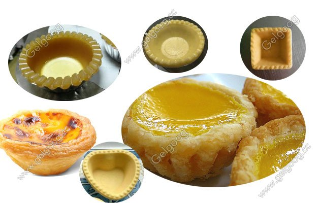 different shape egg tart shell making machine