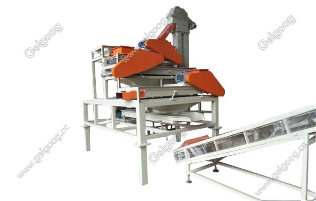 almond cracking and shelling machine line