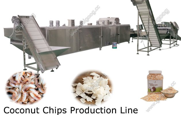 toasted coconut chips production line