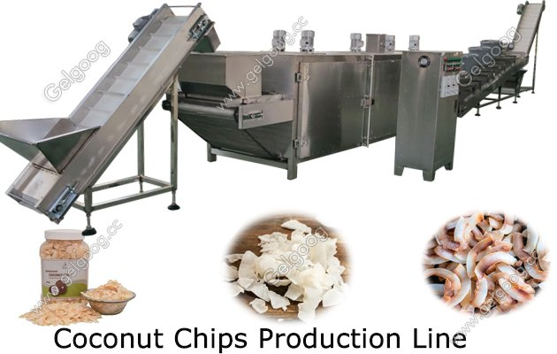 toasted coconut chips making machine