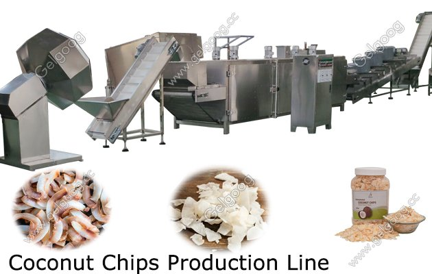 Commercial Toasted Coconut Chips Making Production Line