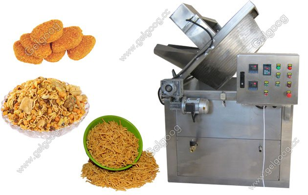 automatic snack food frying machine commercial