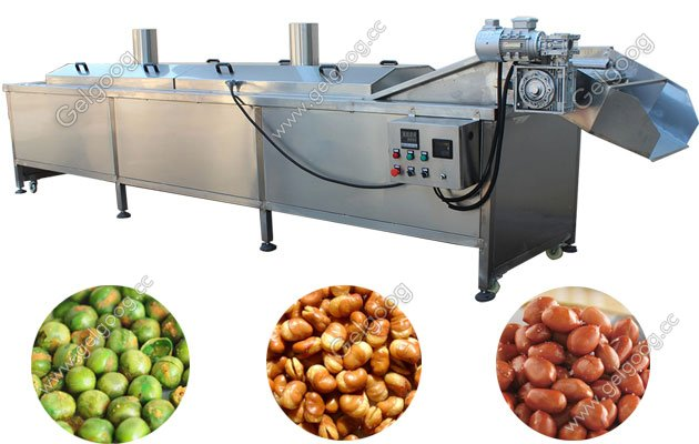 automatic peanut cashew nut frying machine with high quality