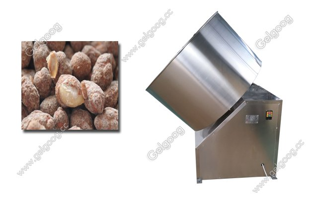 image of peanut coating machine