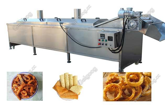 continuous fried food frying machine saving oil and energy