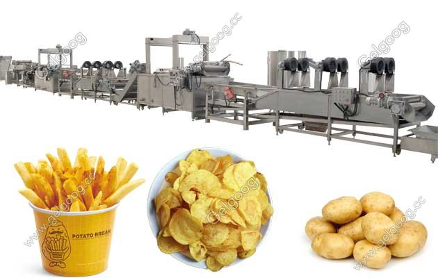 french fries automatic machine factory